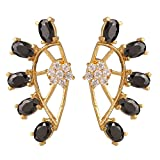 Parijaat Gold Plated Black Fancy Party W...