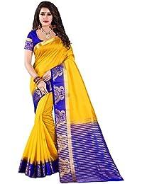 Nirja Creation Multi Color Traditional Fancy Party Wear Cotton Silk Saree (6 Color)