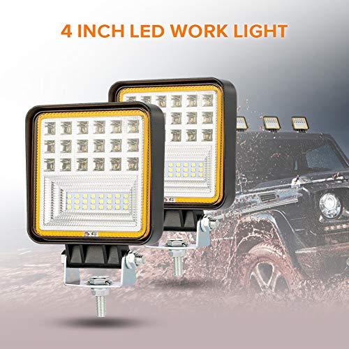 FDSEK 8-60V quadratisch mit Blende 42 Leuchten 126W LED Arbeitsscheinwerfer Offroad-Leuchten technische Leuchten