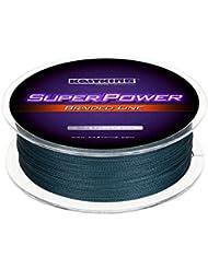 KastKing SuperPower Sedales Trenzados Línea 10LB-150LB, 0.08mm-0.80mm, Dyneema trenzado PE - 300M / 500M / 1000M (Gray, 300M 6LB 0.07mm)