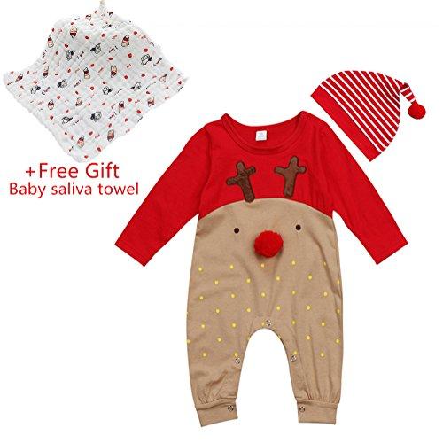 Baby Strampler Set, Chickwin Baby Reine Baumwolle Casual Stück Kleidung Baby Kinder Jungen Mädchen Infant Strampler Overall Baumwolle Kleidung (80, 6-12 (Kostüm Nerd Overall)