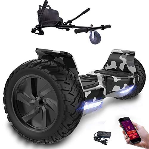 Preisvergleich Produktbild 8, 5zoll SUV Bluetooth Hoverboard Hummer Elektro Scooter mit Off Road Reifen mit Hoverkart,  Gokart,  Sitzscooter,  APP,  Musik Lautsprecher