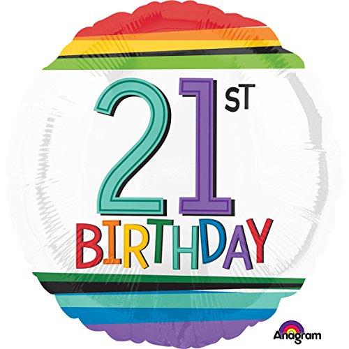 Amscan International 3443301 - Globos de Papel de Aluminio (21 cumpleaños)