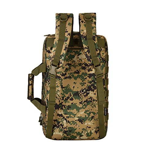 MagiDeal 35 Liter Taktischer Molle Wanderrucksack, Trekkingrucksack, Schultertasche Backpack, Handtasche - als Computer Tasche Dschungel Digital