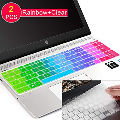 Tastatur-Abdeckung für HP Envy 17 Series/HP Notebook 17t 17-BS 17-BW 17-CA 17-by,HP Pavilion X360 15m-bp/bq,HP Spectre x360 15-ch011dx,Pavilion 15-cb 15-cc 15-cd 15-cd 15-bw 15-BBS Regenbogenfarben (Skins Für Hp Pavilion X360)