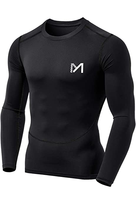Men/'s Compression T Shirt Quick-dry Fitness Mock Neck Tops Spandex Long Sleeve