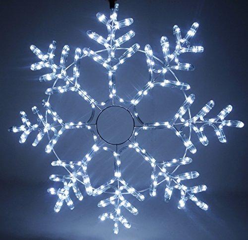 Christmas Concepts 90cm Funkelnde weiße LED Seil Licht Schneeflocke - Indoor/Outdoor Weihnachtsdekoration