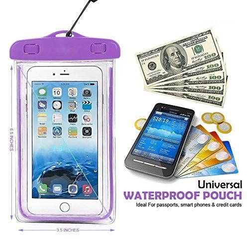 Fone-Case (Purple) Apple iPhone 8 Sac étanche Caméra Mobile universelle d'étui pochette lumineux sec avec couverture tactile subaquatique système étanche écologique avec construction TPU Purple