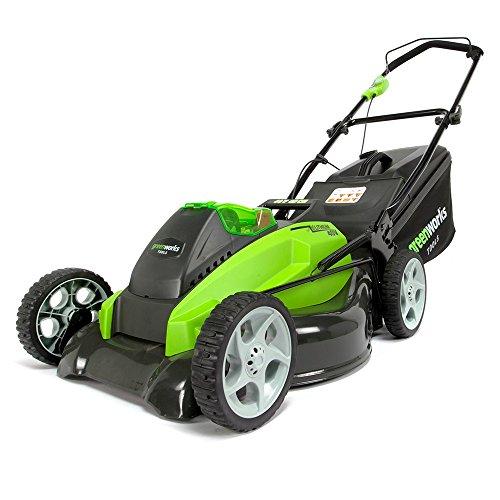 Greenworks Tondeuse à Gazon à batterie Twin Force 40 V avec batterie et chargeur, Largeur de coupe 45 cm