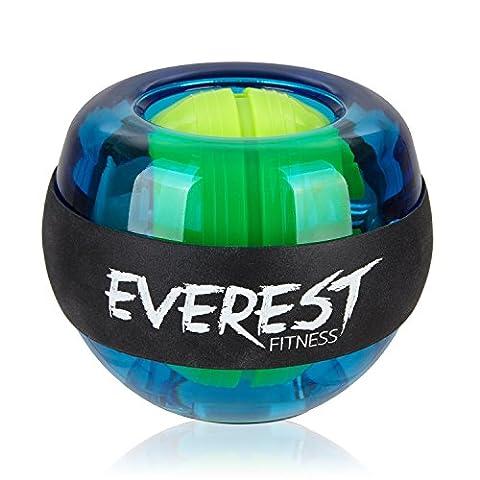 EVEREST FITNESS energyball per allenare la muscolatura di mani e braccia, con impugnatura rivestita in gomma, struttura in plastica infrangibile e| 2 anni di garanzia di soddisfazione | hand trainer, gyroball, gyrotwister