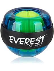 EVEREST FITNESS Energyball / Powerball zum Training der Hand- und Armmuskulatur mit gummiertem Griffbereich und Gehäuse aus bruchfestem Kunststoff und 2 Jahren Zufriedenheitsgarantie - Handtrainer / Gyroball / Gyrotwister