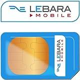 3G Lebara Zahlen Sie GO International SIM-Karte–unbegrenzte Anrufe Texte und Daten, für iPhone 3G, 3GS, 4, 4S, 55S, 5C, 6, 6S, 6+–Nokia–Samsung Galaxy 1,2,3,4,5,6–Mobiles leitet Communications LTD