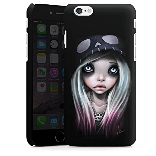 Apple iPhone X Silikon Hülle Case Schutzhülle Mädchen Kunst Art Premium Case matt
