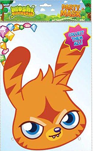 empireposter Moshi Monsters Katsuma Papp Maske, aus hochwertigem Glanzkarton mit Augenlöchern, Gummiband - Grösse ca. 30x21 ()