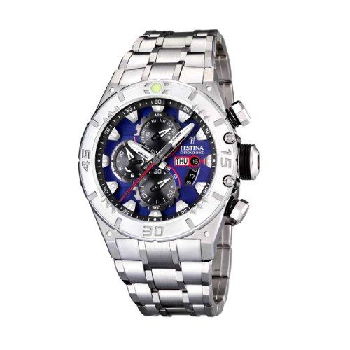 Festina - F16527/6 - Montre Homme - Quartz - Chronographe - Chronomètre - Bracelet Acier Inoxydable Argent