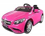 12V Rose Mercedes S63AMG enfants Voiture électrique avec télécommande Parental