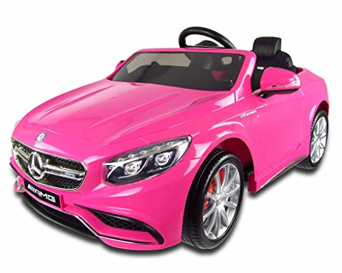12v-Pink-Mercedes-S63-AMG-Kids-Electric-Car-with-Parental-Remote-Control