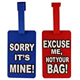 Tootpado Blue-Red (Pack Of 2) Luggage Tag