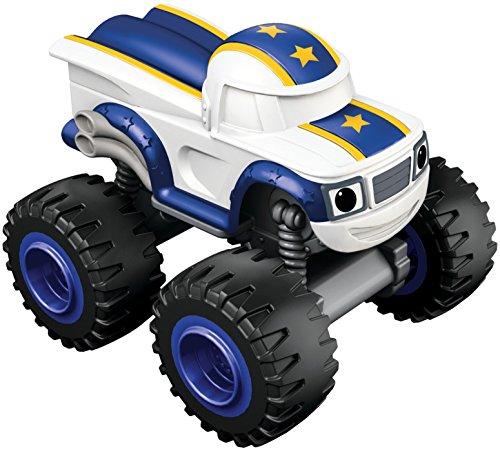 Blaze and the Monster Machines - Nickelodeon Darington Básico vehículo, Color Blanco (Fisher-Price CGH55)