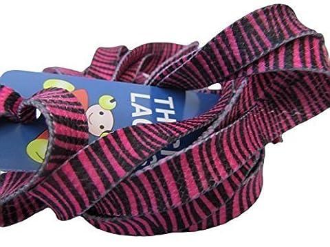 1 Paire rose, zèbre plat chaussure sneaker Mode Tendance Sport Lacets - 115 cm-Longueur Fat-catz-copy-catz-copy-catz-copy-catz