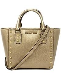 Michael Kors Small Sandrine Stud Crossbody Bag (Pale Gold Gold Tone Hardware ) db4f953068f85