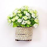 XPHOPOQ flores artificiales idílico pared Monte interiorjardín Boda Parte Decoración Regalos Blanca Rose