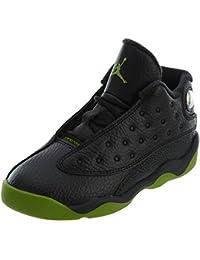 fc524a1e6a1e NIKE 414581-042 Kids Toddler Jordan 13 Retro BT Jordan Black Altitude Green-