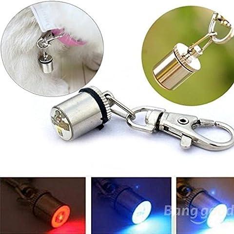 PhilMat luce LED di sicurezza per animali domestici, Tag lampeggiante Mini colletto direzionali