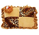 Safe n Cute Baby Rectangular Pillow in Velvet (Brrown) - Super Soft Crazy / Age: 0-8 Years
