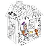 Spielhaus aus Pappe RITTER Pappspielhaus zum Bemalen Haus Spielzeug Karton