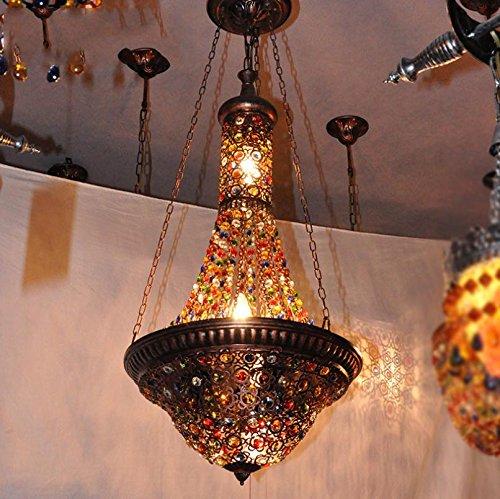 Suspensions Café diffuseur, lustre en cristal de couleur créative bohème, escalier restaurant léger salon bar éclairage hall d'exposition, 30w