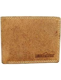 29a03dce514f1 MT Men s Trends präsentiert Blue Burry Herren Geldbörse mit RFID Schutz  Männer Portemonnaie aus Echtem Leder