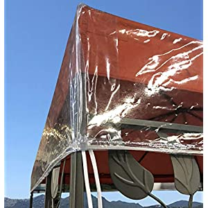 QUICK STAR Pavillon Schutzhaube 3x3m Wasserdicht Transparent
