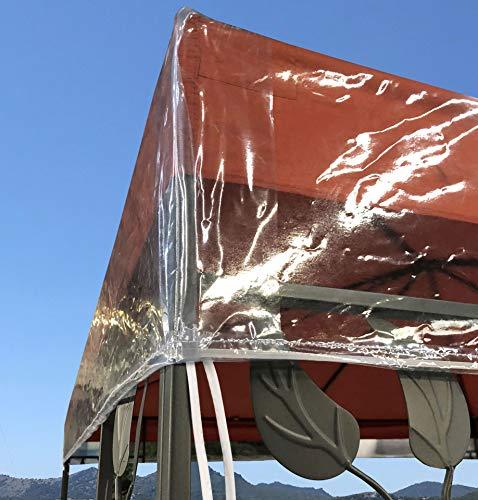 Quick star gazebo cover protettiva pavillon 3 x 3 m impermeabile protezione dagli agenti atmosferici trasparente