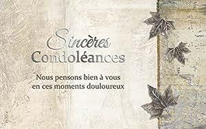 Eurek'art Adulte P52014 Pochette de 5 Cartes sincères condoléances avec 5 enveloppes