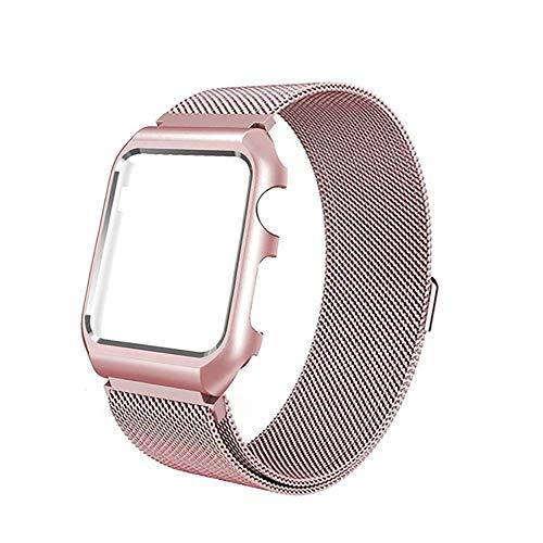 HECHEN Uhrengurt-Für Apple Watch1/2/3 Uhr Loopback-Bewegung Metall 316L Edelstahl Geflochtenen Maschen Riemen-38Mm, 42Mm,42Mm