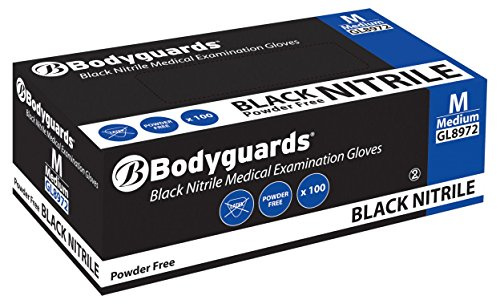 Polyco-BG-Nitrile-Gloves-Abrasion-resistance-Rolled-cuff-Black