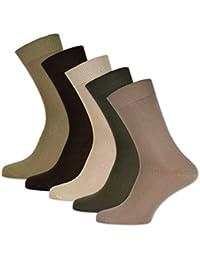 2f39a3c12aa1 sockenkauf24 10 Paar Damen   Herren Socken 100% Baumwolle ohne Naht und  ohne Gummidruck versch