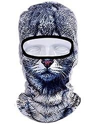 Cagoule 3D Balaclava Sports de plein air 3D print masque animal masque moto protection UV coupe-vent séchage rapide moto / vélo / marche