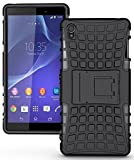 Kickstand Hybrid Dual Armor Case Cover for OPPO A37 Rugged Black By bluezilla