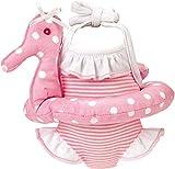 Käthe Kruse 30604 - Badeanzug mit Schwimmreifen 30-33 cm, rosa