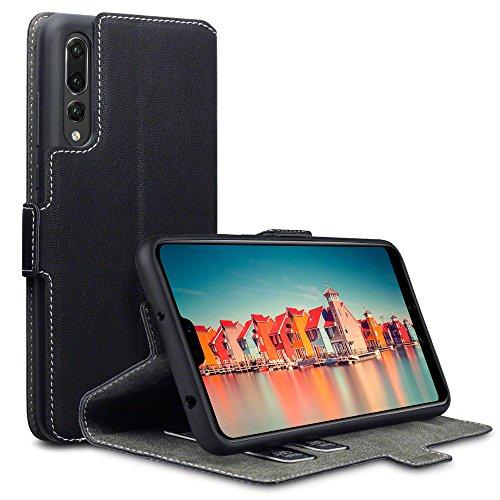 Coque Huawei P20 Pro, Terrapin Étui Housse en Cuir Ultra-mince Avec La Fonction Stand pour Huawei P20 Pro Étui – Noir