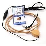 Agente007 - Auricular Espia + Anillo Colgante Inductor Con Microfono Y Control De Volumen Para Examen