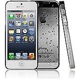 SHOP4PHONE® - Coque housse étui goutte de pluie pour iPhone 5/5s Noir