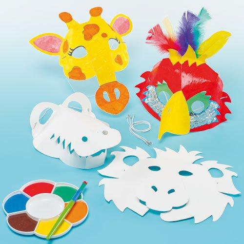 3d masken zum basteln und ausmalen tiere f r kinder ideal zum kindergeburtstag und karneval. Black Bedroom Furniture Sets. Home Design Ideas