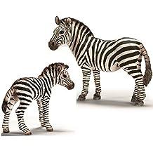 Schleich Wild Life - Cebra Familia - 14392 Yegua y 14393 Potro