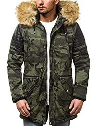 OZONEE Herren Winterjacke Parka Parkajacke Jacke Kapuzenjacke Wärmejacke  Wintermantel Coat AK-Club… 0c65535cfc