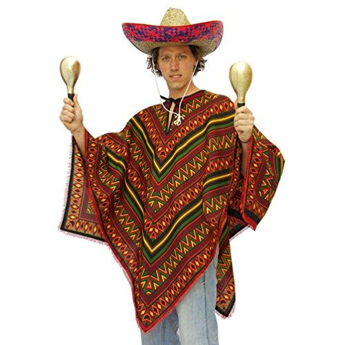 ,Karneval Klamotten' Kostüm Poncho Mexiko Herr Kostüm Karneval Mexikaner Herrenkostüm (Mexiko Kostüme)