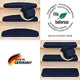 Kettelservice-Metzker® Stufenmatten Vorwerk Uni Einzeln und Sparset's Dunkelblau 1 Stück Rechteckig