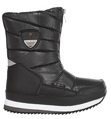 Ice Peak Whitney Jr, Bottes mi-hauteur avec doublure chaude mixte enfant Noir - Schwarz (990 Black)